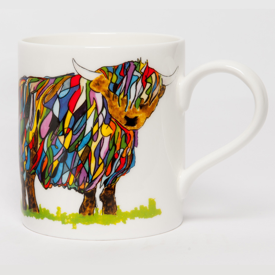 POP MUG - Bright Highland Cow Design