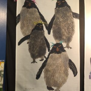 TEA TOWEL -  Rockhopper Penguins Group (in gift box)
