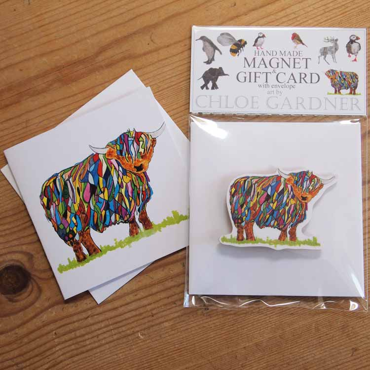 Magnet BRIGHT HIGHLAND COW