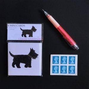 MINI SQUARE CARD PACK - Scottie Dog