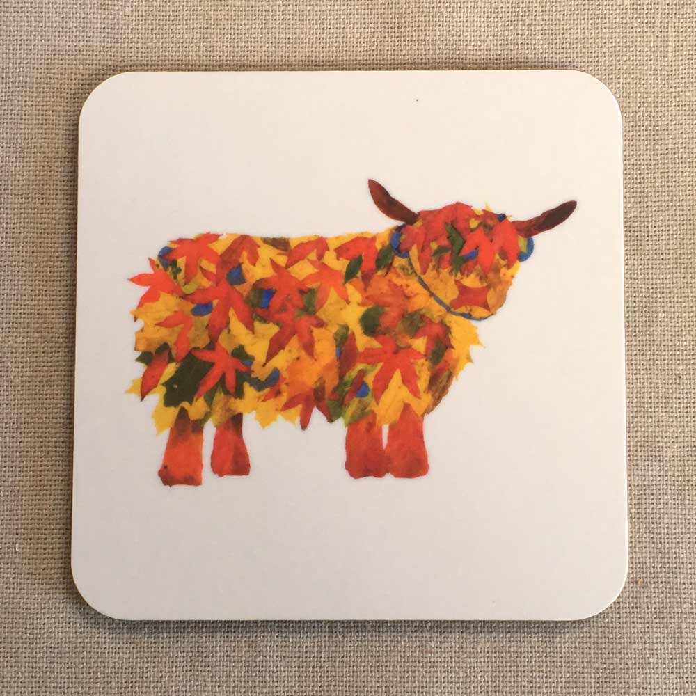 COASTER - Leaf Highland Cow Design