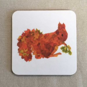 COASTER - Leaf Squirrel Design
