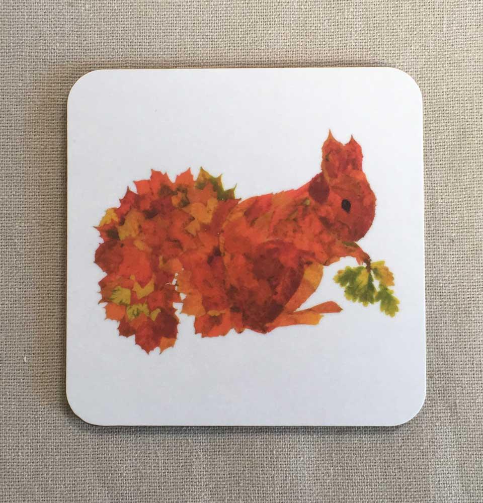 COASTER - Leaf Squirrel Design