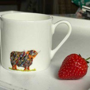 Mini Espresso Mug - Bright Cow Design