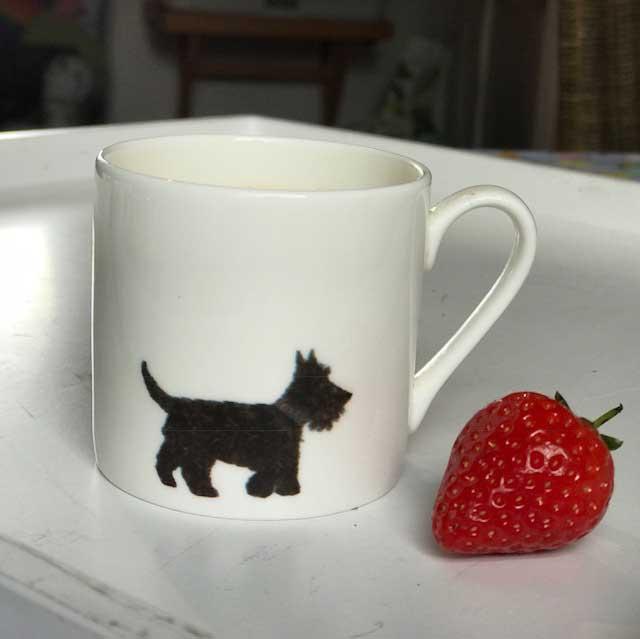 Mini Espresso Mug - Scottie Dog Design