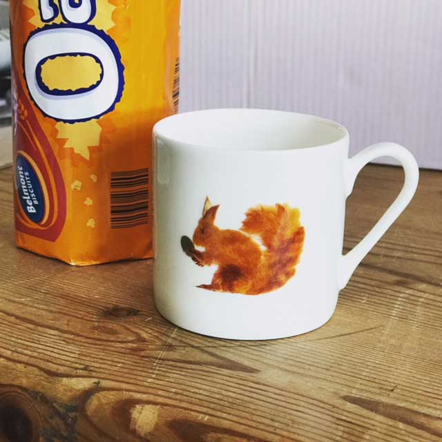 Mini Espresso Mug - Squirrel Design