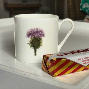 Mini Espresso Mug - Thistle Design