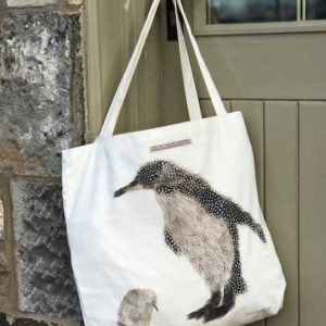 CANVAS BAG LARGE - Large Penguin and baby Design