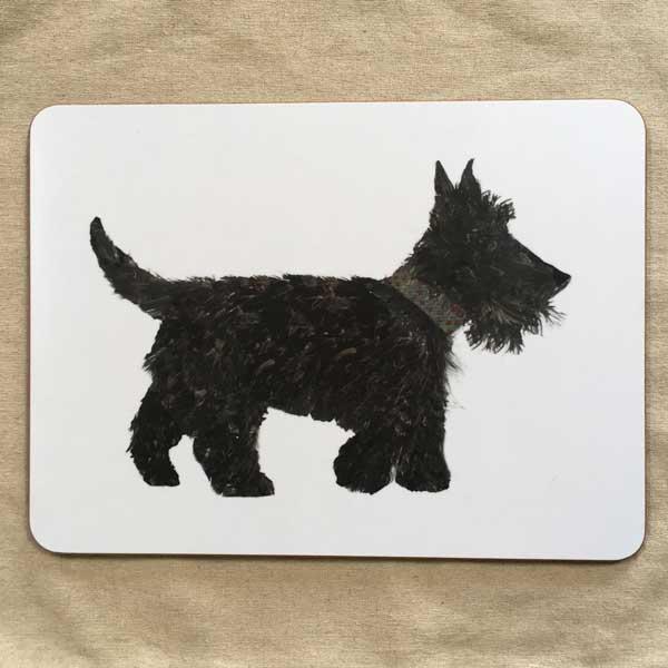 TABLEMAT - Rectangular Scottie Dog Design