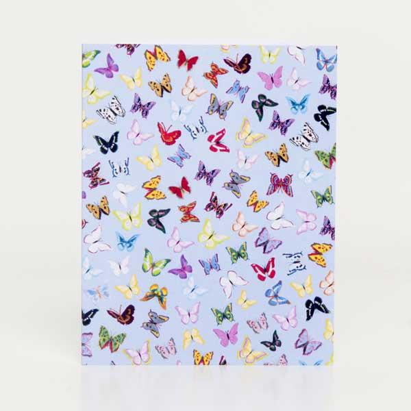 CARD MINI PORTRAIT PACK - Butterflies (blue) design