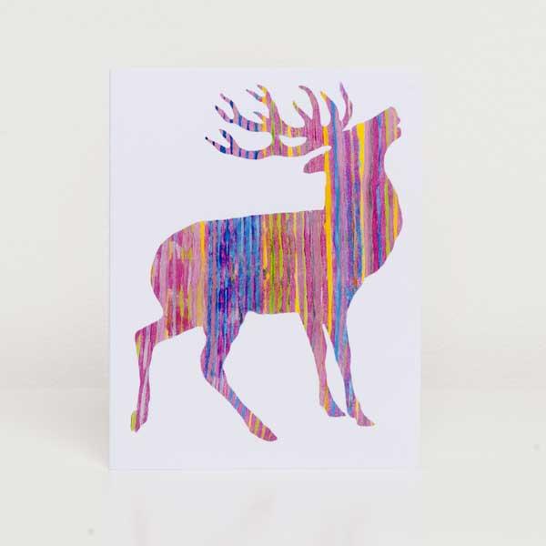 MINI PORTRAIT CARD PACK - Pink Stag design