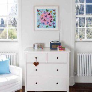 Deposit for 'Butterfly Circle - Aqua' Print - please read description for total.