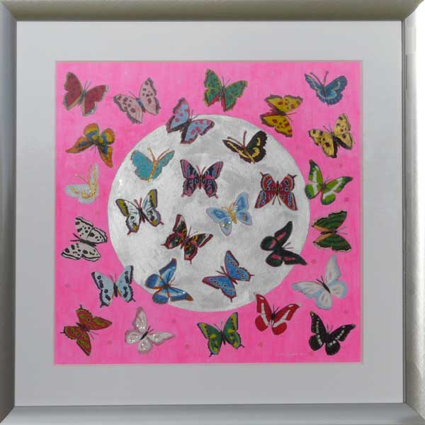 Deposit for 'Butterfly Circle - Dark Pink' Print - please read description for total.