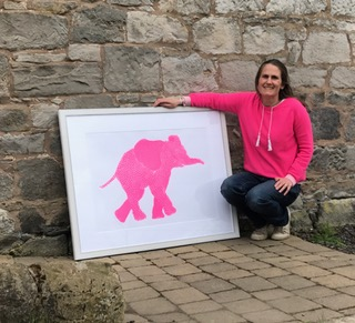 Deposit for Fluoro Elephant Print - please read description for total.