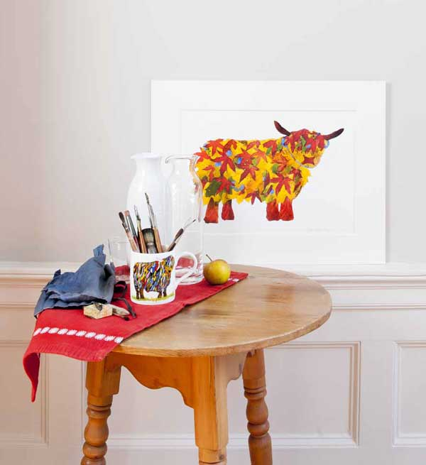 Deposit for Leaf Highland Cow Print - please read description for total.