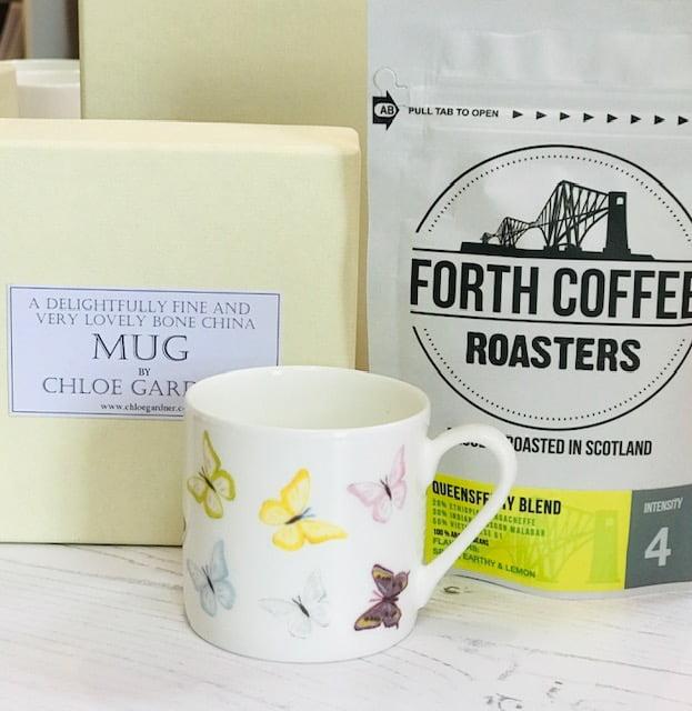 Coffee Gift Set - Butterflies Espresso Mug