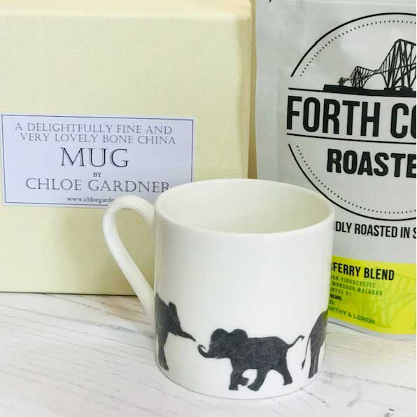 Coffee Gift Set - Elephant Espresso Mug