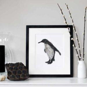 Penguin giclee print framed (deposit here - please read Description for total)