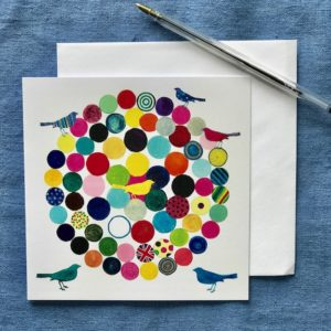 CARD SQUARE - Circles and Birds