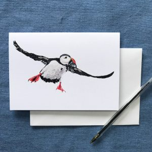 CARD A6 - Flying Puffin