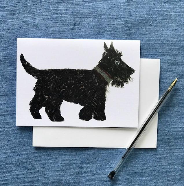 CARD A6 - SCOTTIE DOG