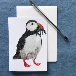 CARD A6 - Puffin with Fish