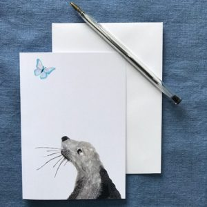 CARD A6 - SEAL WITH BUTTERFLY