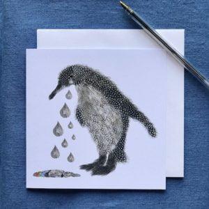 CARD SQUARE - Penguin condolences