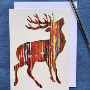 CARD 7X5 - RED STAG