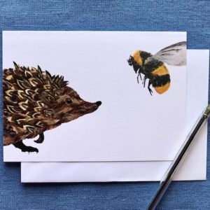 CARD A6 - HEDGEHOG AND BEE