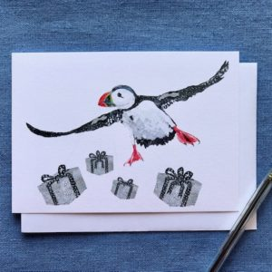 Christmas Cards - Pack of Six - Christmas Puffin