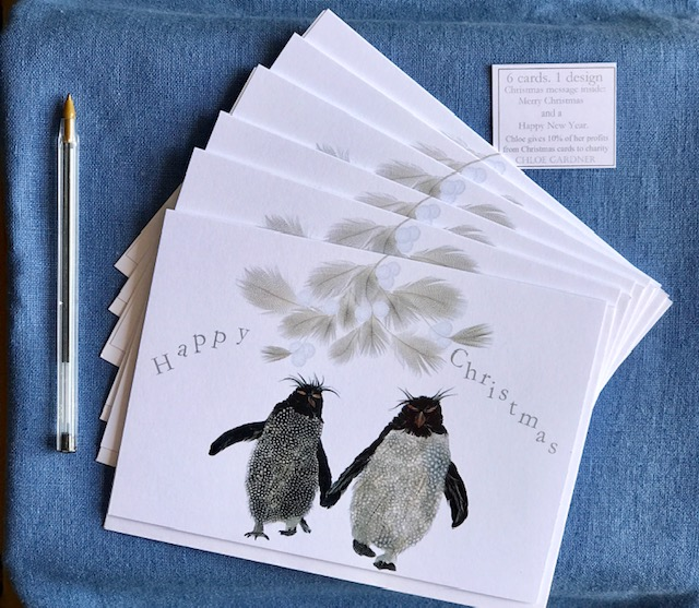 Christmas Cards - Pack of Six - Christmas Rockhoppers