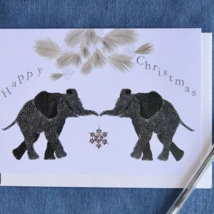 Christmas Cards - Pack of Six - Elephant Pair