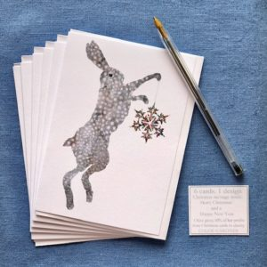 Christmas Cards - Pack of Six - Christmas Hares