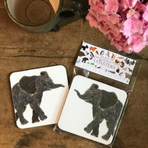 COASTER - Set of 2 - ELEPHANT FACING BOTH WAYS