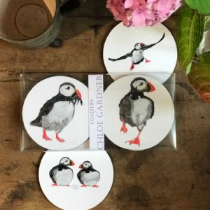 COASTER - Set of 4 - Puffin Design