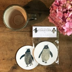 COASTER - Set of 2 - Rockhopper Dark and Light Design