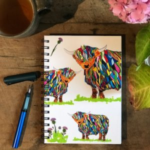 Notebook - Bright Highland Cow