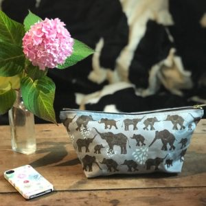 Elephant wash bags (or pencil cases)