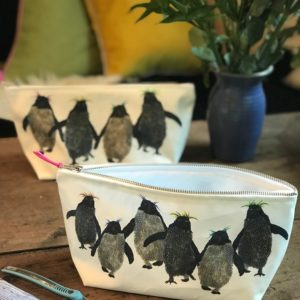 Rockhopper penguin washbags (or pencil cases)