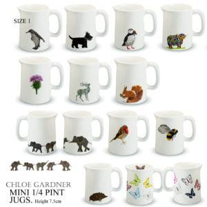 Size One - Mini Quarter pint jugs