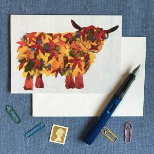 Leaf Highland Cow