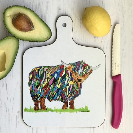 chopping board small bhc cow A
